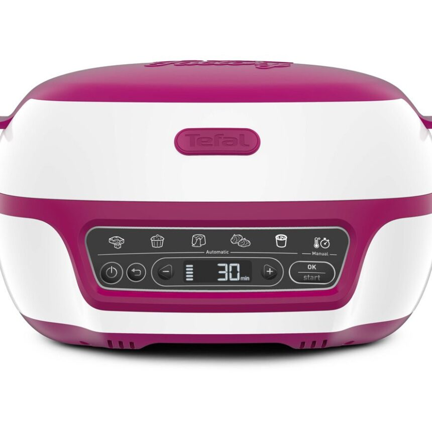 TEFAL Cake Factory Délices KD810140 Mini Oven - Pink & White, Pink